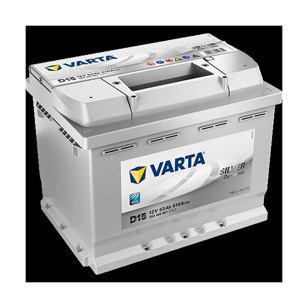 Varta Silver Dynamic D15 - 12V - 63AH - 610A (EN)