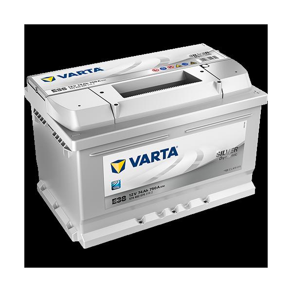 Varta Silver Dynamic E38 - 12V - 74AH - 750A (EN)