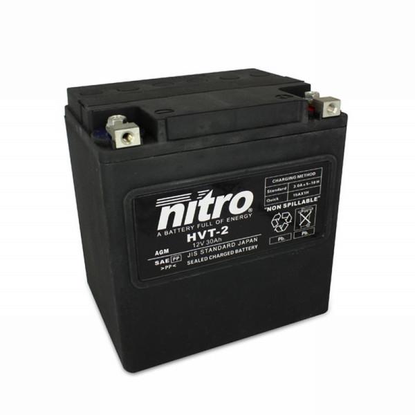 NITRO HVT 02 AGM geschlossen Harley OE 66010 - 12V - 30Ah - 400A/EN