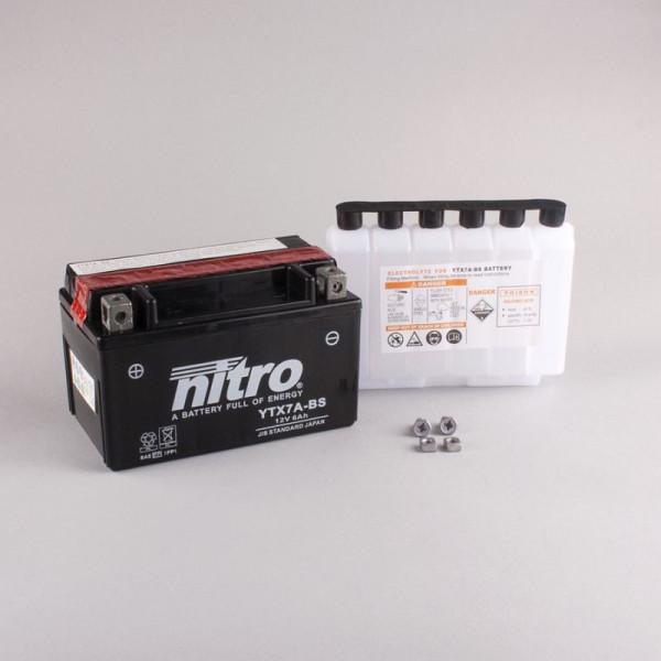 NITRO YTX7A-BS AGM mit Säurepack - 12V - 6Ah - 105A/EN