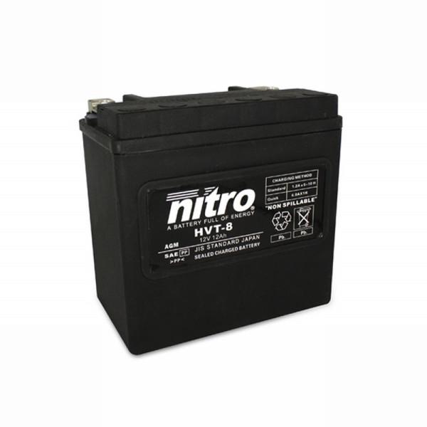 NITRO HVT 08 AGM geschlossen Harley OE 65948 - 12V - 14Ah - 220A/EN