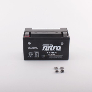 NITRO YT7B-BS AGM mit Säurepack - 12V - 6,5Ah - 110A/EN