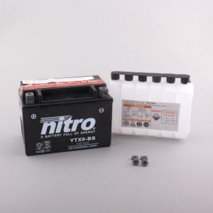 NITRO YTX9-BS AGM mit Säurepack - 12V - 8Ah - 135A/EN
