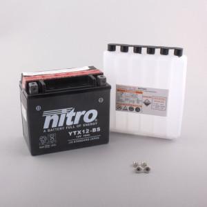 NITRO YTX12-BS AGM mit Säurepack - 12V - 10Ah - 180A/EN