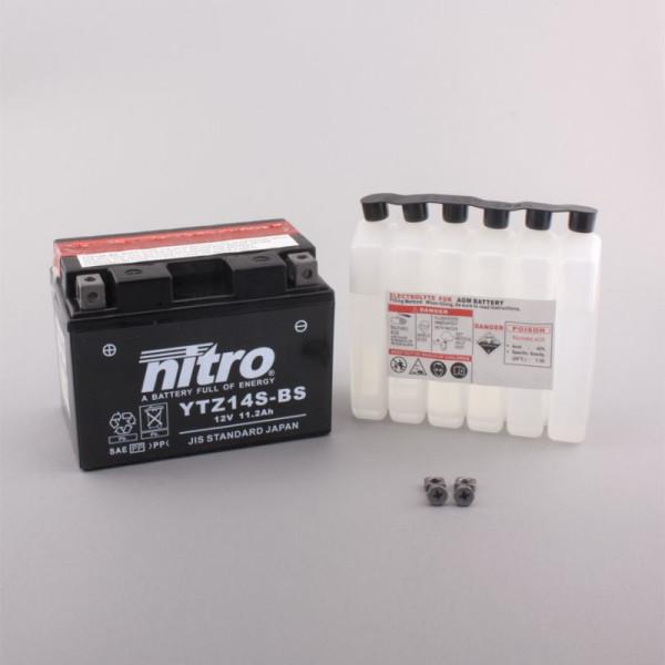 NITRO YTZ14S-BS AGM mit Säurepack - 12V - 11,2Ah - 230A/EN