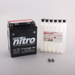 NITRO YTX14AHL-BS AGM mit Säurepack HP - 12V - 12Ah...