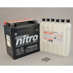 NITRO YTX20A-BS AGM mit Säurepack - 12V - 18Ah -...
