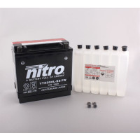 NITRO YTX20HL-BS-PW AGM mit Säurepack - 12V - 18Ah - 310A/EN