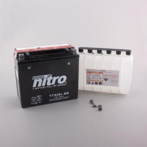 NITRO YTX20L-BS AGM mit Säurepack - 12V - 18Ah -...