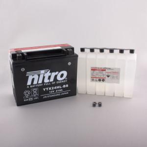 NITRO YTX24HL-BS AGM mit Säurepack HP - 12V - 21Ah -...