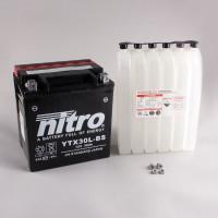 NITRO YTX30L-BS AGM mit Säurepack - 12V - 30Ah - 385A/EN