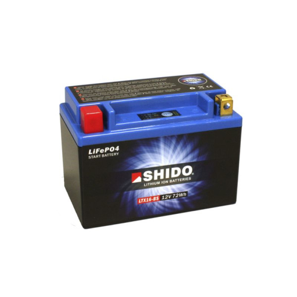 SHIDO LTX16-BS Lithium Ion - 12 V - 6 Ah - 360 A/EN