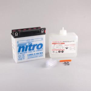 NITRO 12N5.5-4B mit Säurepack - 12V - 5,5Ah - 60A/EN