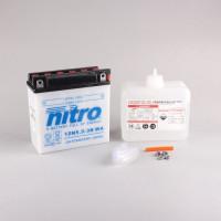 NITRO 12N5.5A-3B mit Säurepack - 12V - 5,5Ah - 58A/EN