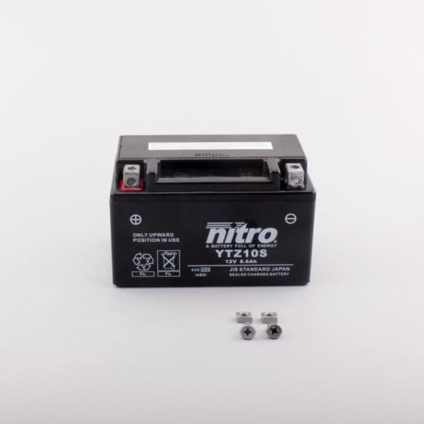 NITRO YTZ10S AGM GEL geschlossen - 12V - 8,6Ah - 190A/EN