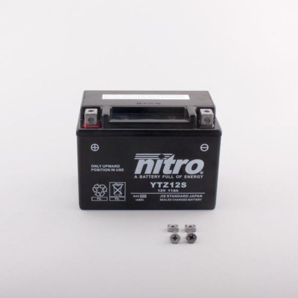 NITRO YTZ12S AGM GEL geschlossen - 12V - 11Ah - 210A/EN