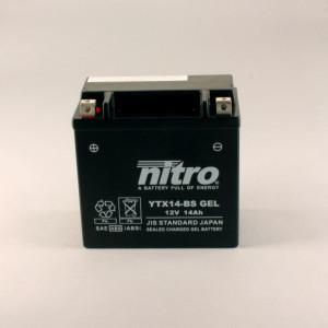 NITRO YTX14-BS GEL AGM geschlossen - 12V - 12Ah - 200A/EN