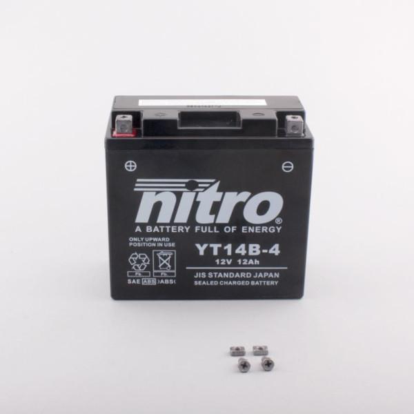 NITRO YT14B-4 AGM GEL geschlossen - 12V - 12Ah - 210A/EN