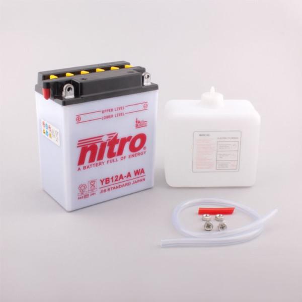 NITRO YB12A-A mit Säurepack - 12V - 12Ah - 165A/EN