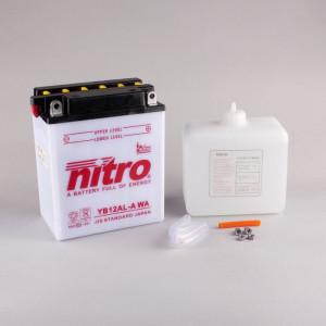 NITRO YB12AL-A mit Säurepack - 12V - 12Ah - 165A/EN