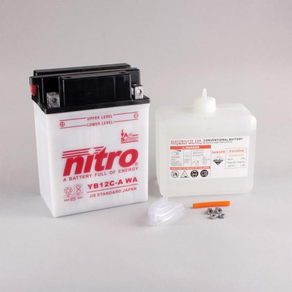 NITRO YB12C-A mit Säurepack - 12V - 12Ah - 165A/EN
