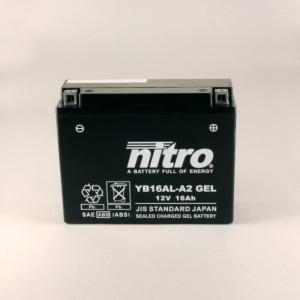 NITRO YB16AL-A2 GEL AGM geschlossen - 12V - 16Ah - 200A/EN