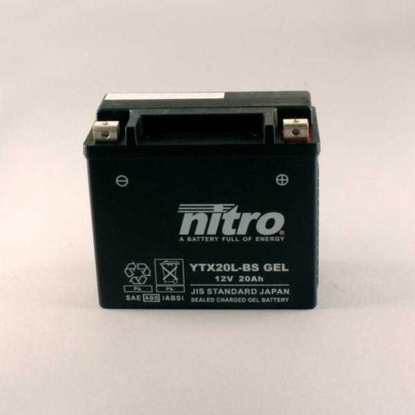 NITRO YTX20L-BS GEL AGM geschlossen - 12V - 18Ah - 270A/EN