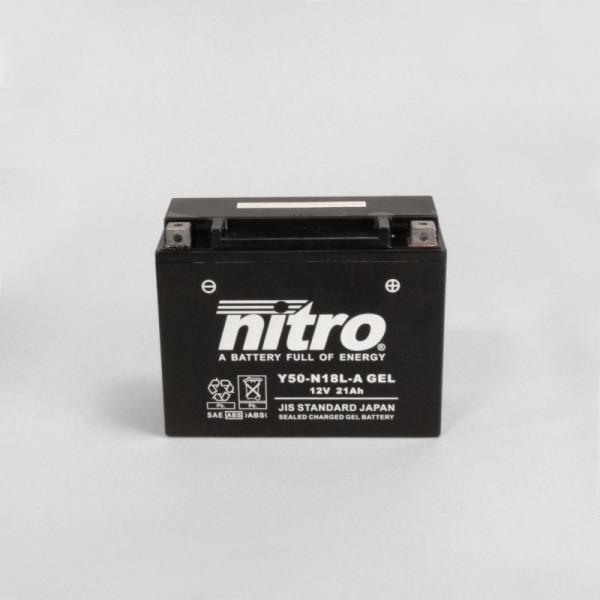 NITRO Y50-N18L-A GEL AGM geschlossen - 12V - 20Ah - 260A/EN