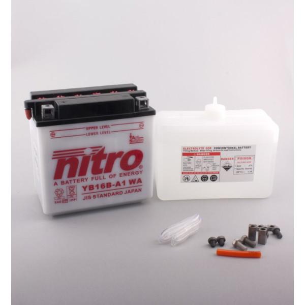 NITRO YB16B-A1 mit Säurepack - 12V - 16Ah - 207A/EN