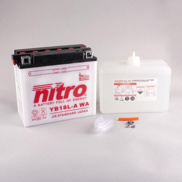 NITRO YB18L-A mit Säurepack - 12V - 18Ah - 235A/EN