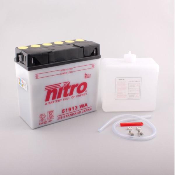 NITRO 51913 mit Säurepack - 12V - 19Ah - 100A/EN