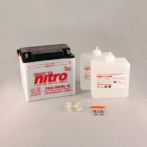 NITRO Y60-N24L-A mit Säurepack - 12V - 28Ah - 300A/EN