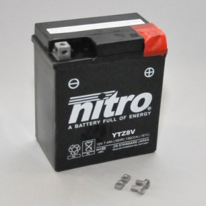 NITRO YTZ8V AGM GEL geschlossen - 12V - 7,4Ah - 130A/EN