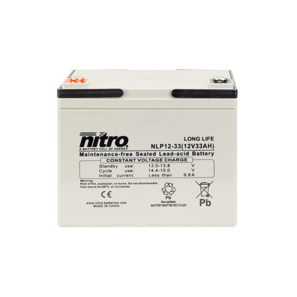 Nitro High Performance LP12-33 - 12V - 33Ah