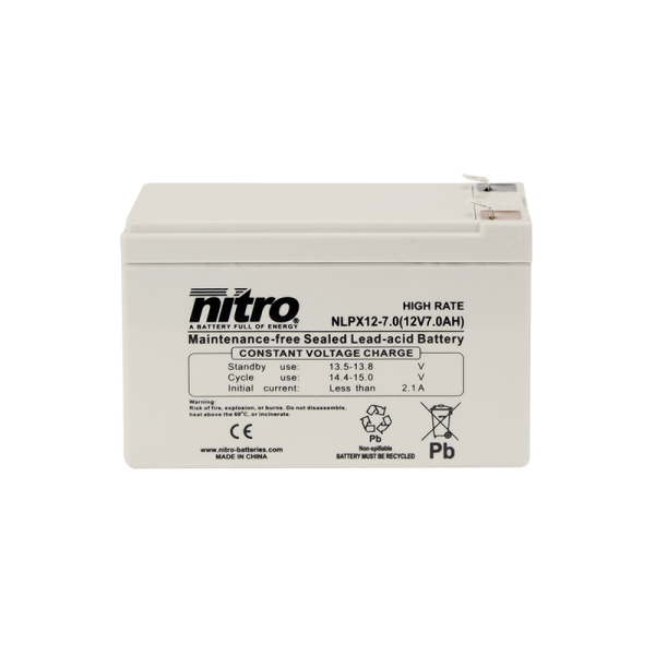 Nitro HighRate LPX12-7.0 - 12V - 7.0Ah