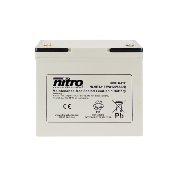 Nitro HighRate LHR12185W - 12V - 55Ah