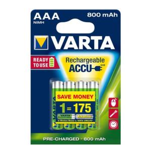 Varta Akku Micro AAA R2U 56703 NiMH 800mAh Ready to use...