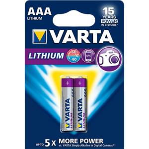 Varta Professional Lithium L92 Micro AAA Batterie (2er...