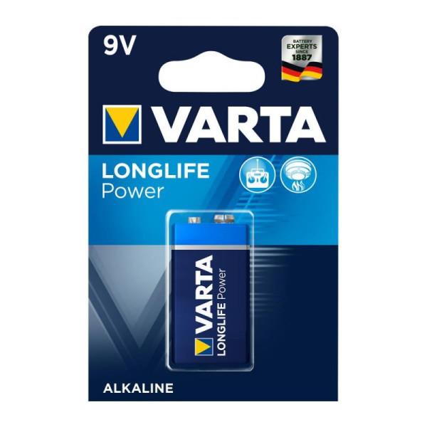 Varta Longlife Power ehem. High Energy 9V Block Batterie 4922 6LR61 (1er Blister)