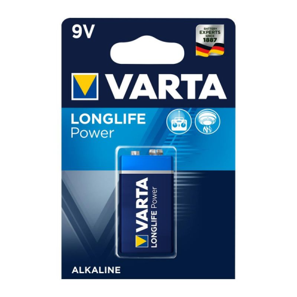 Varta Longlife Power ehem. High Energy 9V Block Batterie 4922 6LR61 (1er Blister)