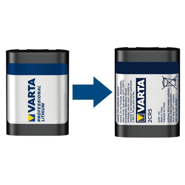 Varta Photo Lithium ehem. Professional Lithium 2CR5 6V Fotobatterie (1er Blister)