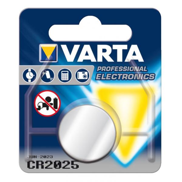 Varta Professional Electronics CR2025 Lithium Knopfzelle 3V (1er Blister) UN3090