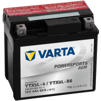 Varta Powersports AGM (LF) 12V - 4AH - 80A (EN)