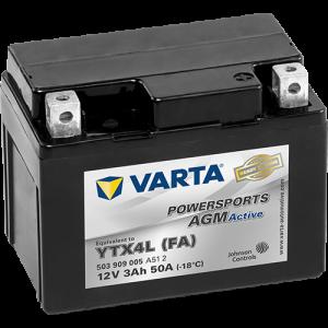 Varta Powersports AGM Active 12V - 3AH - 50A (EN)