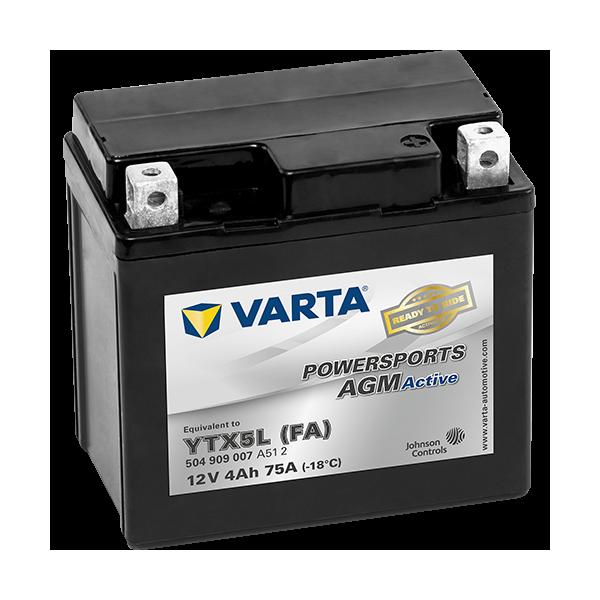 Varta Powersports AGM Active 12V - 4AH - 75A (EN)