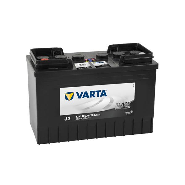 Varta J2 - 12V - 125AH - 720A (EN)