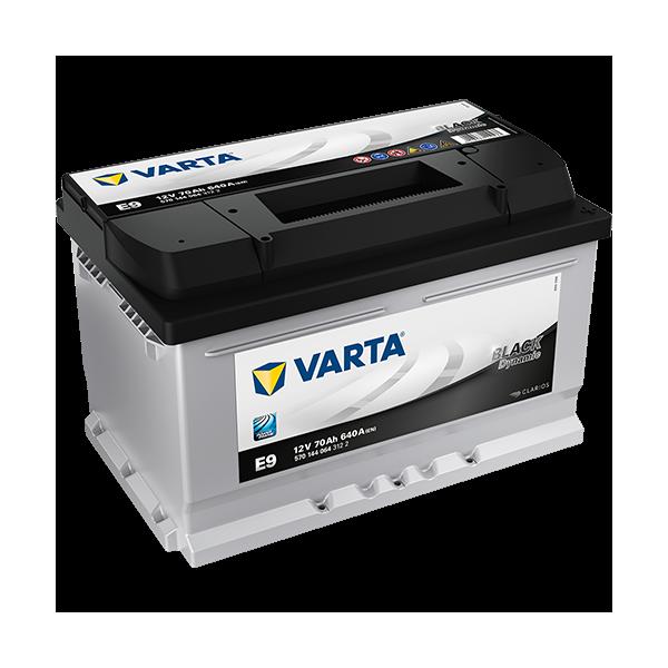 Varta Black Dynamic E9 - 12V - 70AH - 640A (EN)